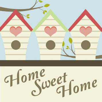 Secretly Designed Home Sweet Home Wall Art Print, 12 H x 12 W x 0.25 D