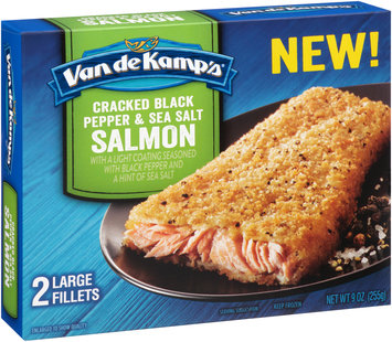 Van de Kamp's® Cracked Black Pepper & Sea Salt Salmon Fillets 2 ct Box