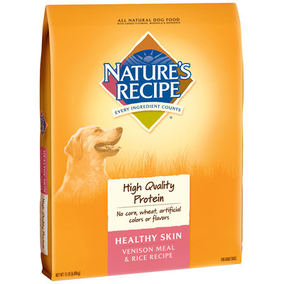 Nature's Recipe® Healthy Skin Venison Meal & Rice Recipe Dog Food 15 lb. Bag