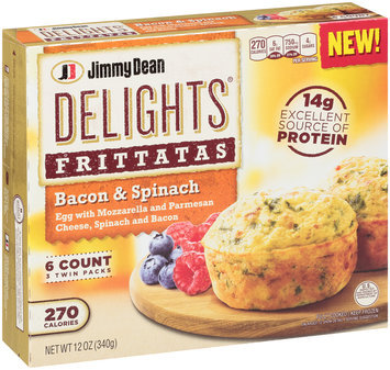 Jimmy Dean Delights® Bacon & Spinach Frittatas 12 oz. Box