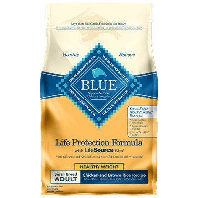 THE BLUE BUFFALO CO. BLUE™ Life Protection Formula® Healthy Weight Chicken and Brown Rice For Small Breed Adult Dogs