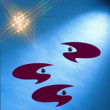 Flensted Mobiles Abstract Stella Nova Mobile in Red