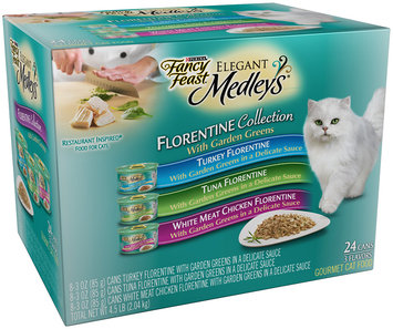Purina Fancy Feast Elegant Medleys Florentine Collection Cat Food Variety Pack 24-3 oz. Cans