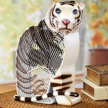 Deco Breeze White Tiger Figurine Table Top Fan