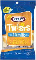 Kraft Natural Cheese Snacks Mozzarella & Cheddar Reduced Fat Made W/2% Milk 16 Ct Cheese Twists 12 Oz Peg