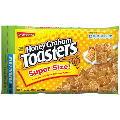 Malt-O-Meal® Honey Graham Toasters® Cereal 33 oz. ZIP-PAK®