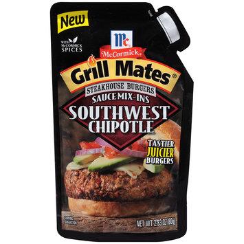 McCormick® Grill Mates® Steakhouse Burgers Southwest Chipotle Sauce Mix-Ins 2.83 oz. Pouch