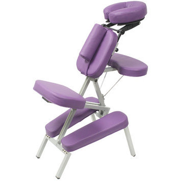 Best Massage Ultra Lightweight Custom Craftworks Melody Portable Massage Chair - Purple