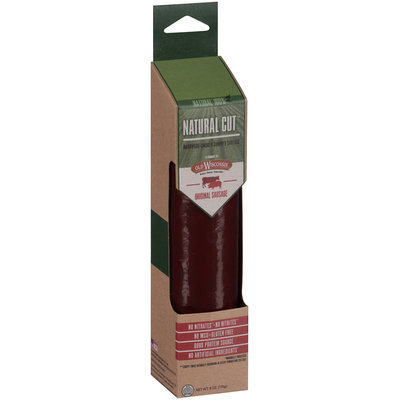 Old Wisconsin® Natural Cut™ Original Hardwood-Smoked Summer Sausage 6 oz. Pack