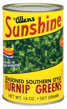 The Allens Sunshine Seasoned Southern Style Fat Free Turnip Greens 14 Oz Can