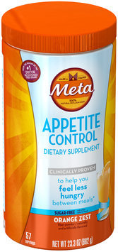 Appetite Control Meta Appetite Control Dietary Supplement, Sugar-Free Orange Zest, 57 servings