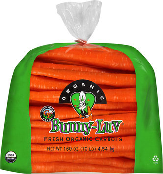 Grimmway Farms® Bunny-Luv® Fresh Organic Carrots 160 oz. Bag