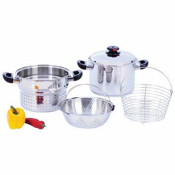 Chefs Secret Steam Control 8 Quart Stockpot with Deep Fry Basket