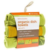 Full Circle Morning Bloom Organic Cotton Dish Towel Set 3 Co
