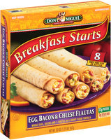 Don Miguel® Breakfast Starts Egg, Bacon & Cheese Flautas 8 ct Box