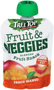 Tree Top® Fruit & Veggies Peach Mango Blended Fruit Snack 3.2 oz. Pouch