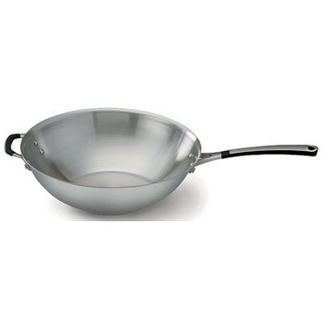Calphalon Simply Stainless Steel 12 in. Stir Fry Pan