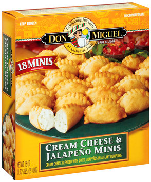 Don Miguel® Cream Cheese & Jalapeno Minis Frozen Dinner 18 oz. Box