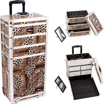 Just Case Sunrise I3362LPBR Leopard Trolley Makeup Case