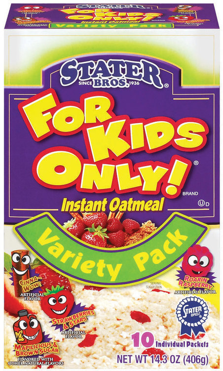 Stater Bros. For Kids Only - Variety 10-Pack Instant Oatmeal 10 Pk Box