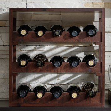 August Grove 15 Bottle Tabletop Wine Rack