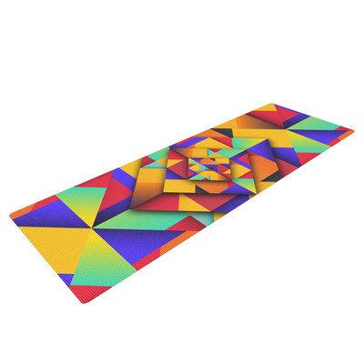 Kess Inhouse Shapes II by Danny Ivan Geometric Yoga Mat