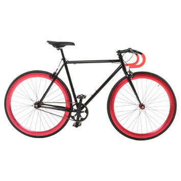 Vilano Attack Fixed Gear Bike Track Bike Black / Red Large (58cm)