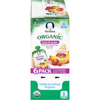 Gerber® Organic 2nd Foods® Fruit & Grain Banana Red Berries Granola Baby Food 6-3.5 oz. Pouches