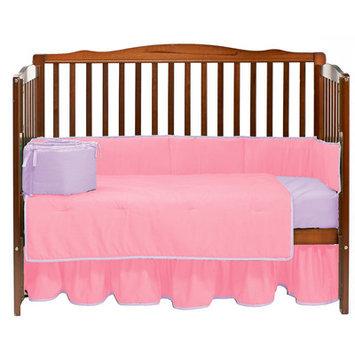 Baby Doll Bedding Solid 4 Piece Crib Bedding Set Color: Pink/Lavender