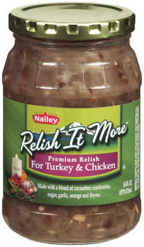 NALLEY Relish It More For Turkey & Chicken Relish 16 FL OZ JAR