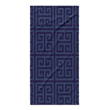 Kavka Greek Key Bath Towel