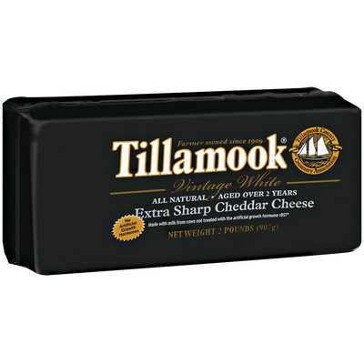 Tillamook Vintage White Extra Sharp Cheddar Cheese 2 Lb Baby Loaf
