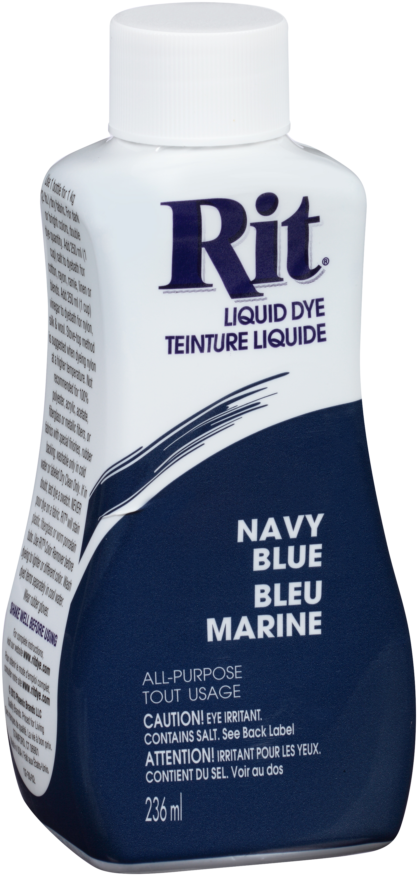 CN - Rit® Navy Blue Liquid Dye 236ml Bottle