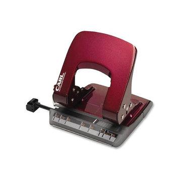 CARL MFG CUI62019 2- Hole Punch 18 Sheet Cap Red