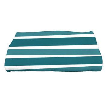 The Holiday Aisle Stripes Bath Towel Color: Teal
