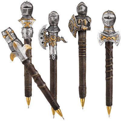 Design Toscano 5-Piece Knights of the Realm Battle Armor Pen Set