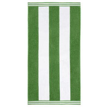 Wayfair Basics Superior Oversized Cotton Cabana Stripes Beach Towel Color: Dark Green