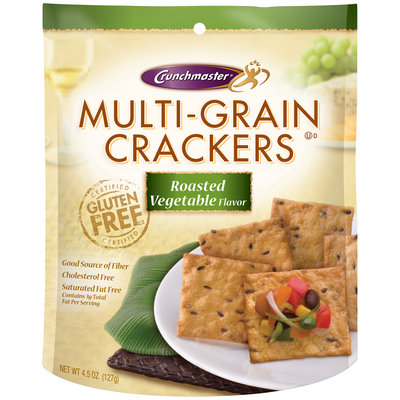 Crunchmaster® Roasted Vegetable Multi-Grain Crackers 4.5 oz. Pouch