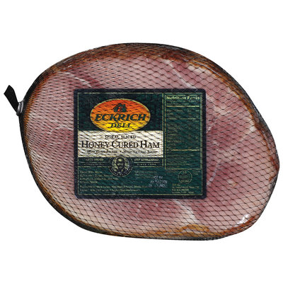 Eckrich Spiral Sliced Honey Cured W/Glaze Packet Deli - Ham