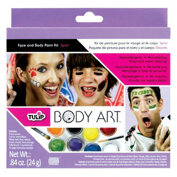 Tulip D28840 Body Art Sport Themed 8-Colors Paint Kit
