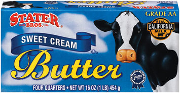 Stater Bros. Sweet Cream 4 Quarters Butter 16 Oz Box