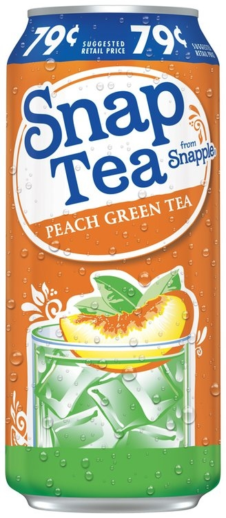 SnapTea from Snapple® Peach Green Tea 16 fl. oz. Can