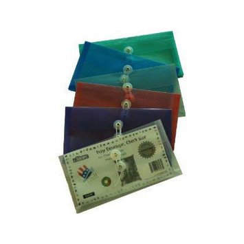 Filexec Poly Envelope Check Size Assorted Colors Pack 12