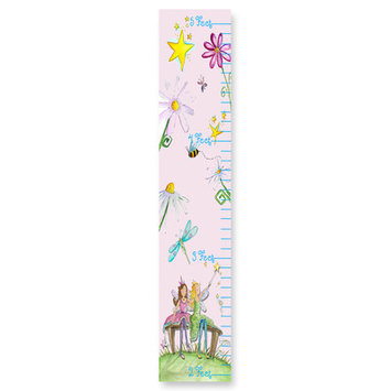 Stupell Industries GC-91 FaIry Floral Pink Growth Chart