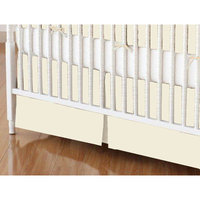 Sheetworld Solid Jersey Knit Crib Skirt Color: Ivory