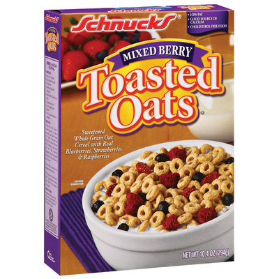 Schnucks Mixed Berry Toasted Oats 10.4 Oz Box