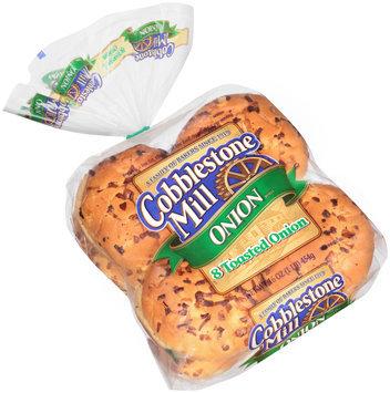 Cobblestone Mill® Toasted Onion Sandwich Rolls 8 ct Bag