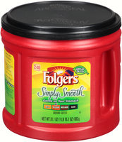 Folgers® Simply Smooth® Medium Ground Coffee 31.1 oz. Canister