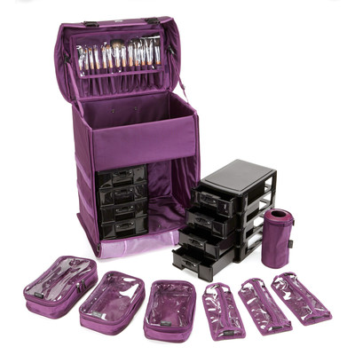 Seya Professional Makeup Case Color: Purple