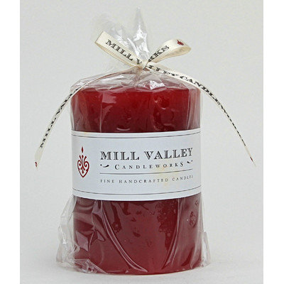 Mill Valley Candleworks Dusty Rose Scented Pillar Candle Size: 8